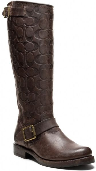 coach frye for coach boot in brown brown