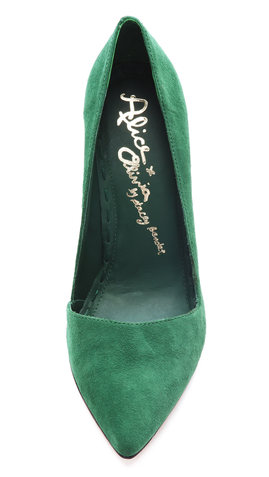 Lyst Alice Olivia Dina Suede Pumps In Green