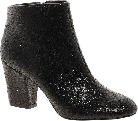 Asos Asos All That Jazz Glitter Ankle Boots in Black (blackglitter)