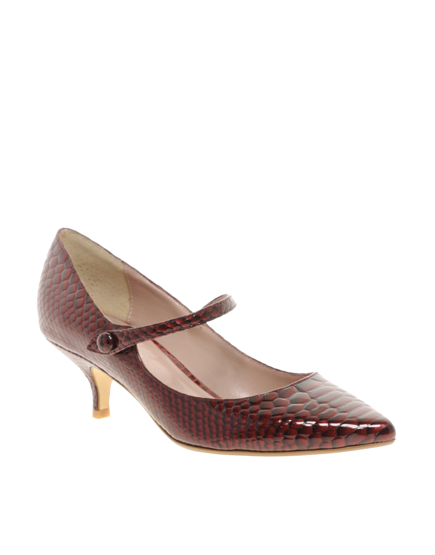 Lyst - Dune Appleford Pointed Kitten Heel Shoes in Brown