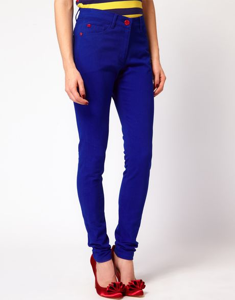 House Of Holland Skinny Jeans in True Blue in Blue