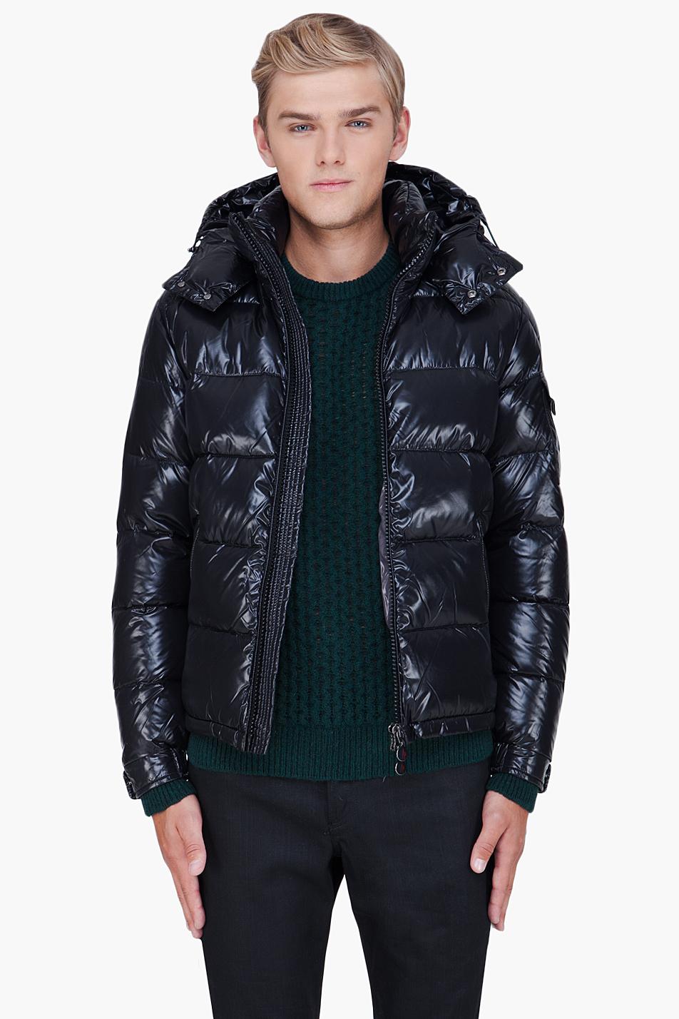 Moncler Maya Padded Jacket In Black For Men Lyst