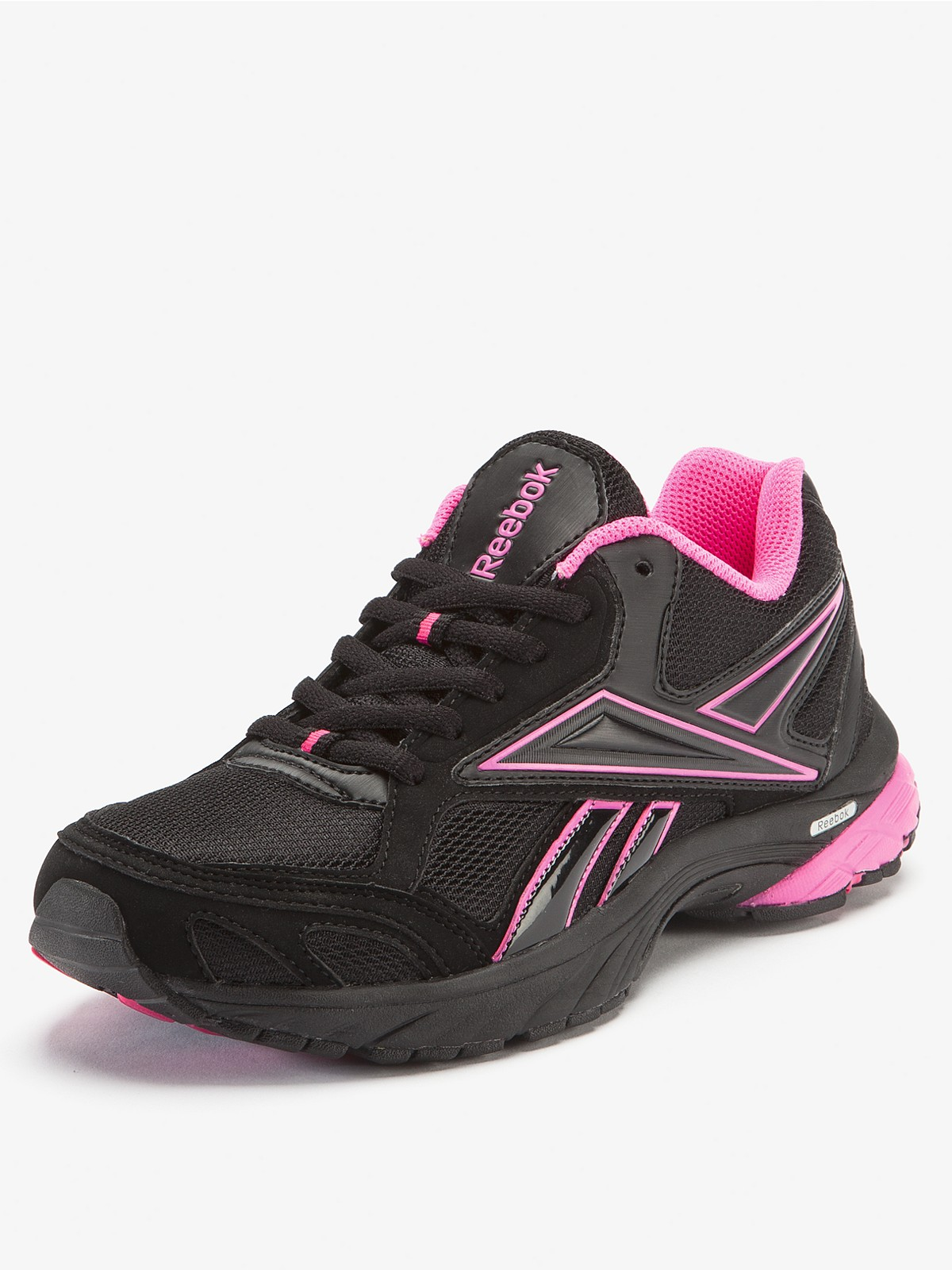 reebok carthage running shoes in pink black pink lyst