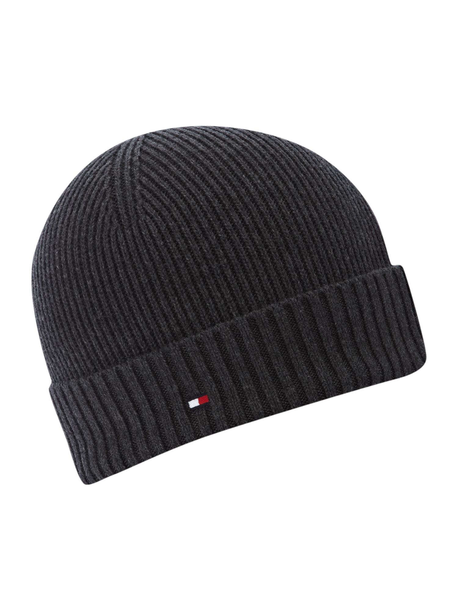 Tommy Hilfiger Beanie Hat In Gray For Men Charcoal Lyst