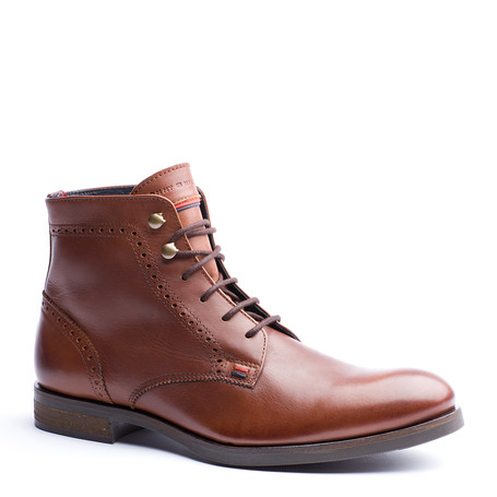tommy hilfiger aaron leather ankle boots in brown for men. Black Bedroom Furniture Sets. Home Design Ideas