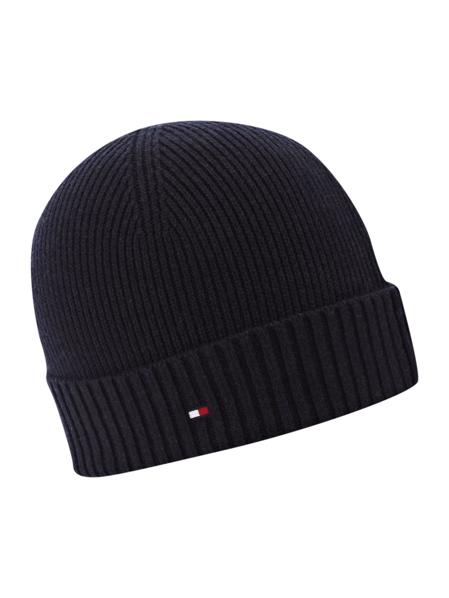 Tommy Hilfiger Beanie Hat In Blue For Men Lyst