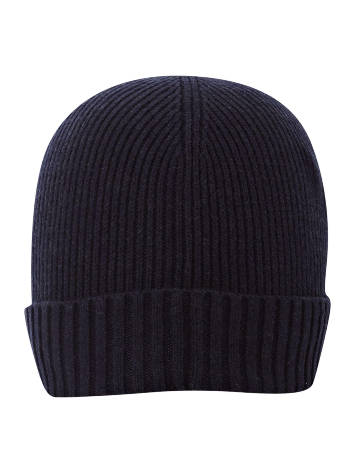 Tommy Hilfiger Beanie Hat In Midnight Blue For Men Lyst