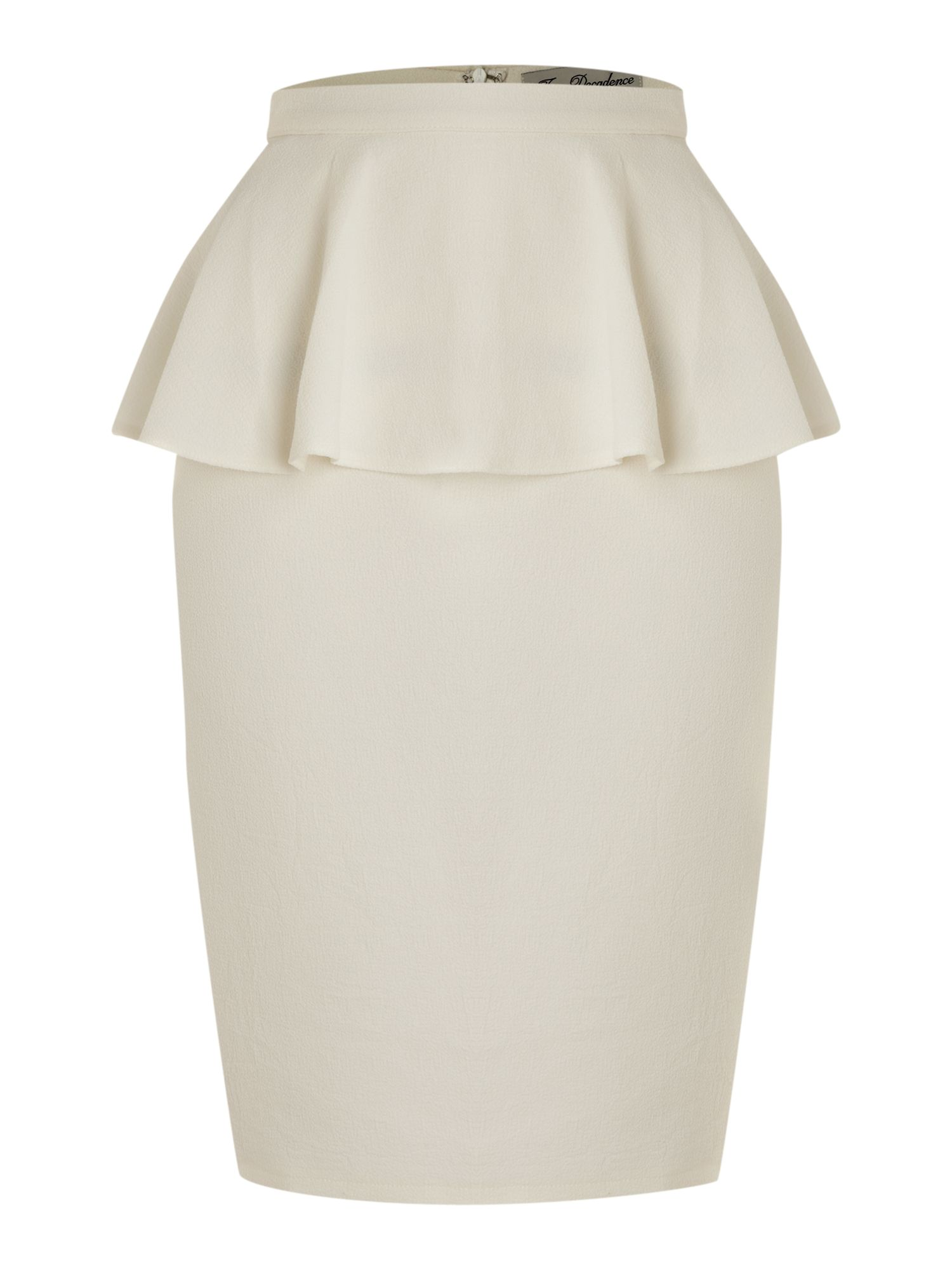 true decadence peplum pencil skirt in white lyst