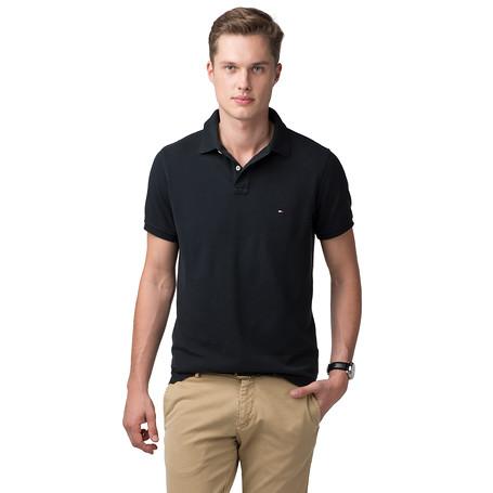 0faf6031 Tommy Hilfiger Tommy Slim Fit Polo in Black for Men - Lyst