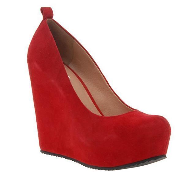 Красные замшевые туфли купить