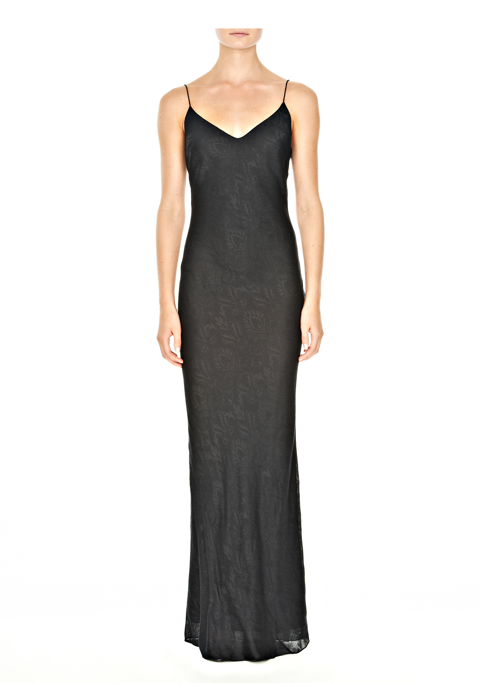 Lyst Alexander Wang Long Slip Dress In Black