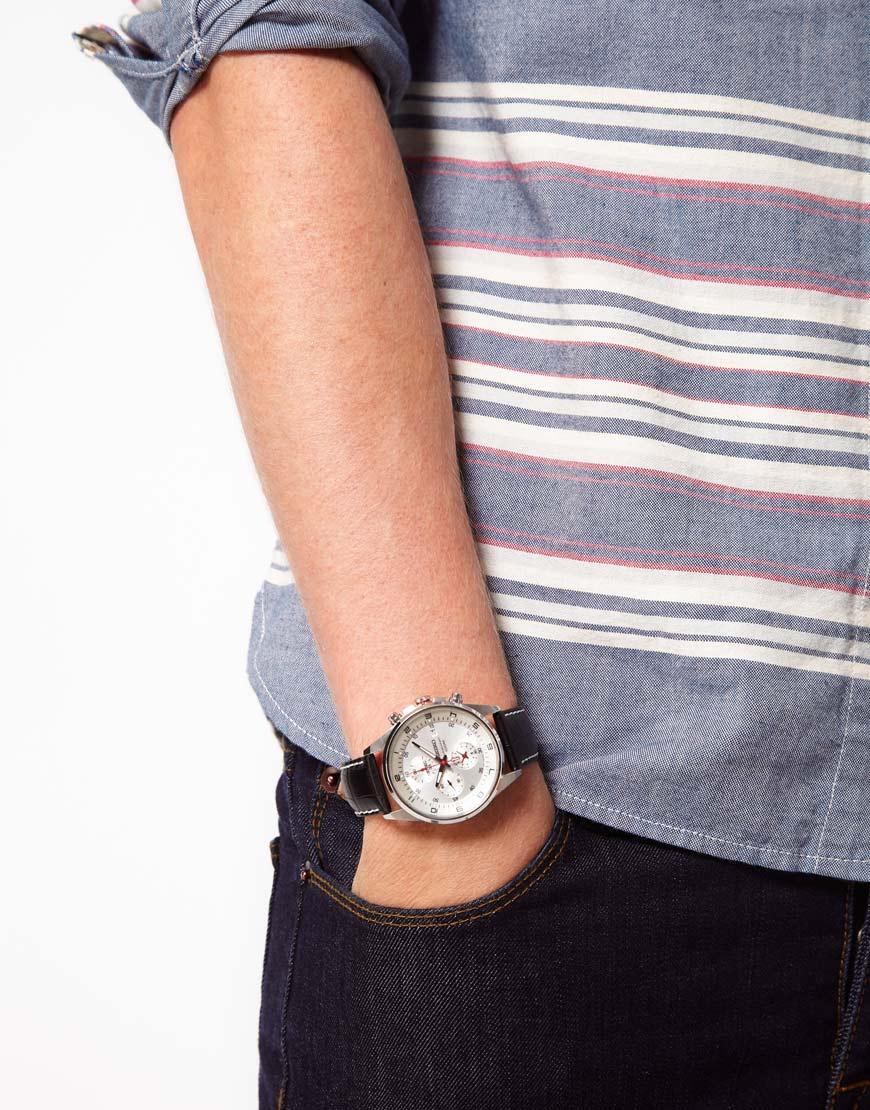 Seiko quartz chronograph tachymeter silver tone dial watch sndc87p2 in