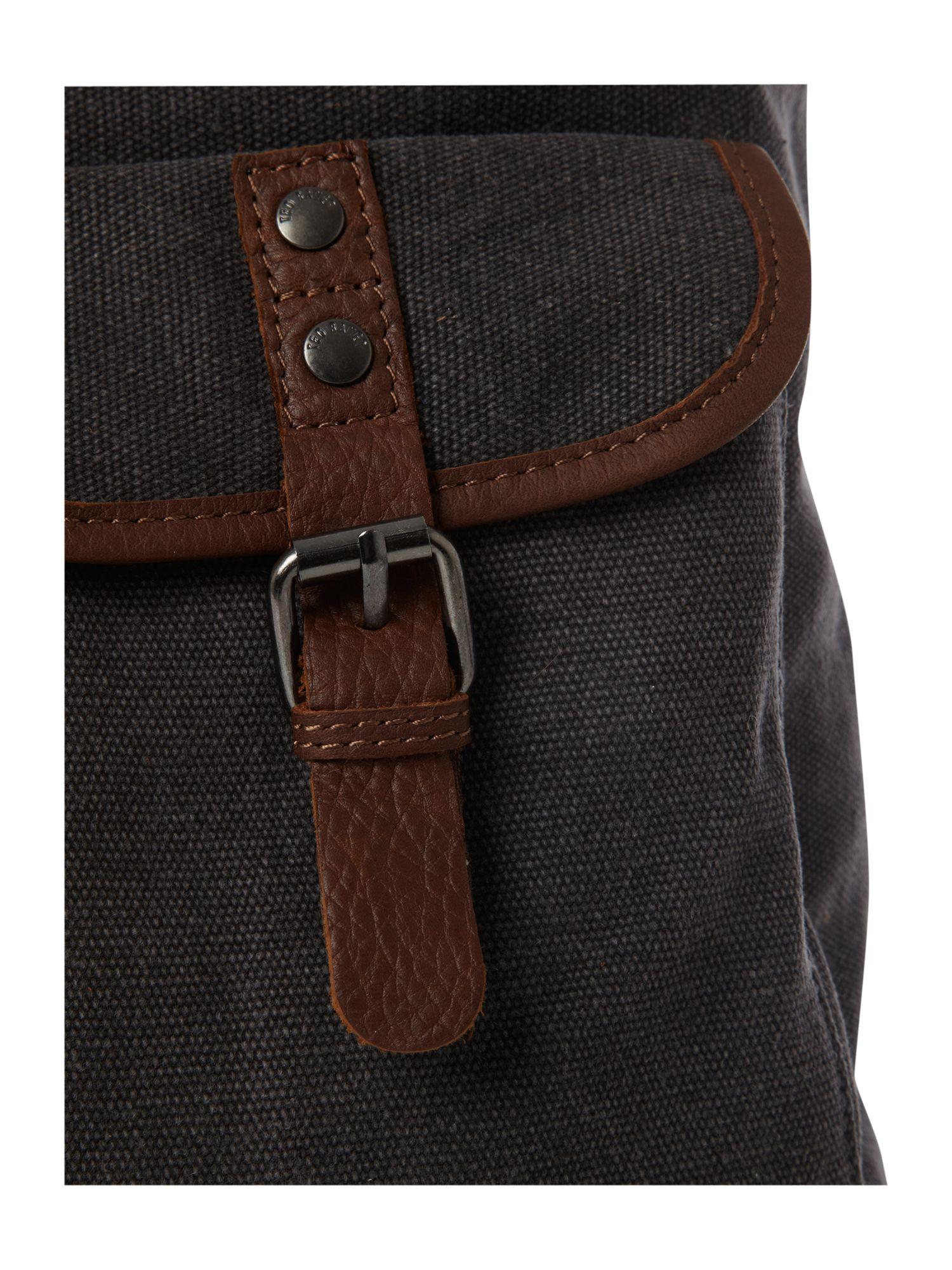 ted baker canvas backpack in gray for men lyst. Black Bedroom Furniture Sets. Home Design Ideas