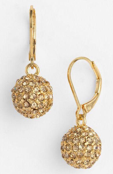 klein astra fireball drop earrings in gold gold