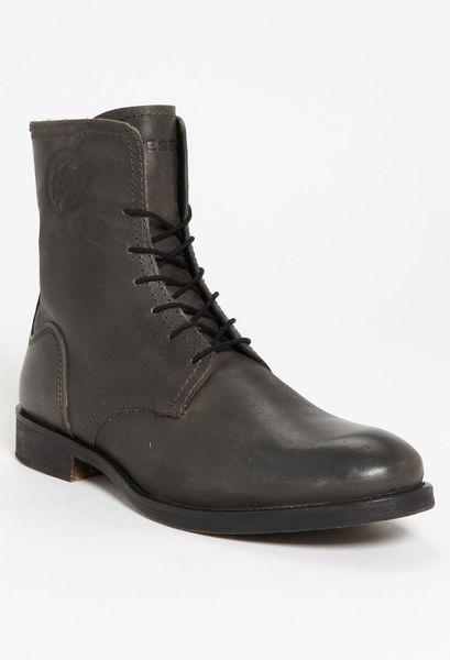 Diesel Norman Plain Toe Boot in Black for Men (black/ olive)