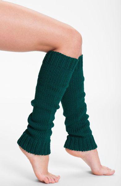 Knitting Pattern For Chunky Leg Warmers : Dkny Chunky Knit Leg Warmers in Green (bottle) Lyst
