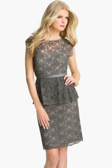 Sheath Dress on Red Valentino Lace Overlay Dress In Gray  Dark Grey    Lyst
