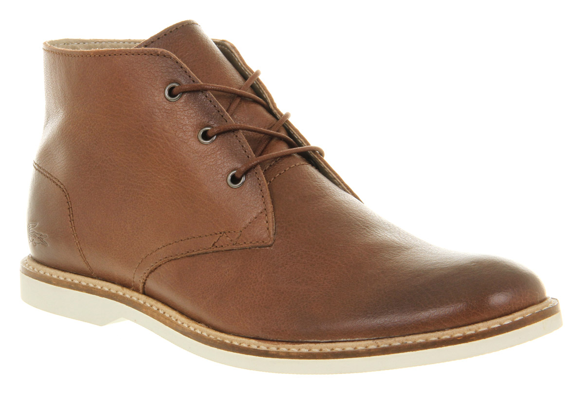 24a9561d3a21db Lyst - Lacoste Sherbrook Desert Boot Brown Leather in Brown for Men