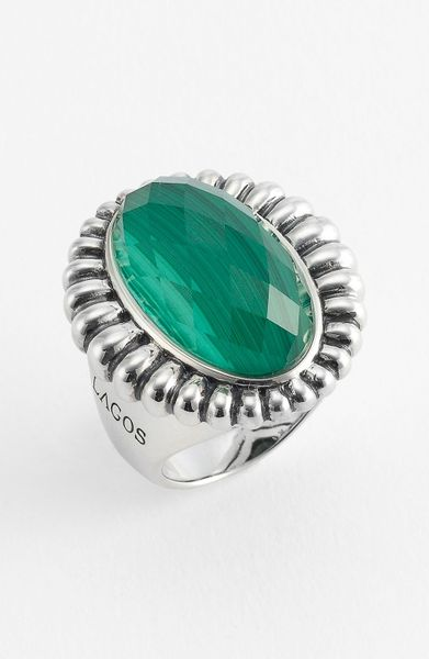 Lagos Venus Stone Ring In Green Sterling Malachite Lyst