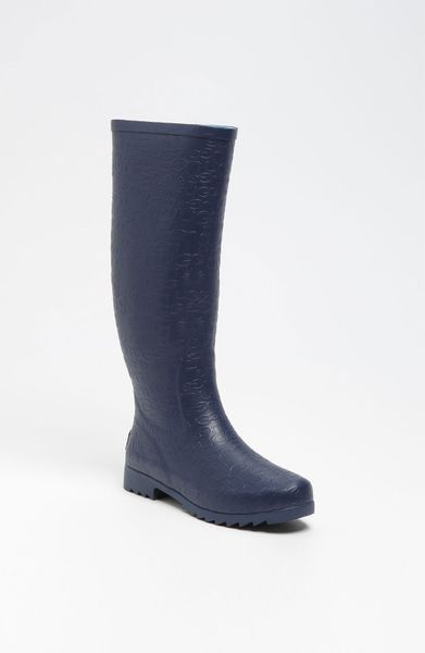 ugg wilshire logo tall boot in blue lapis blue lyst