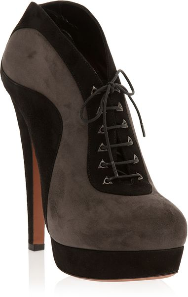 Ala 239 A Platform Lace Up Ankle Boot In Gray Grey Lyst