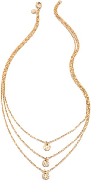 Gorjana Three Disc Necklace - Lyst