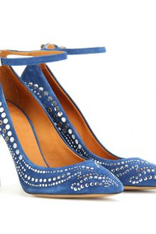 Isabel Marant Stanly Studded Suede Pumps - Lyst