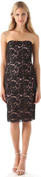 Notte By Marchesa Strapless Lace Dress In Black Lyst