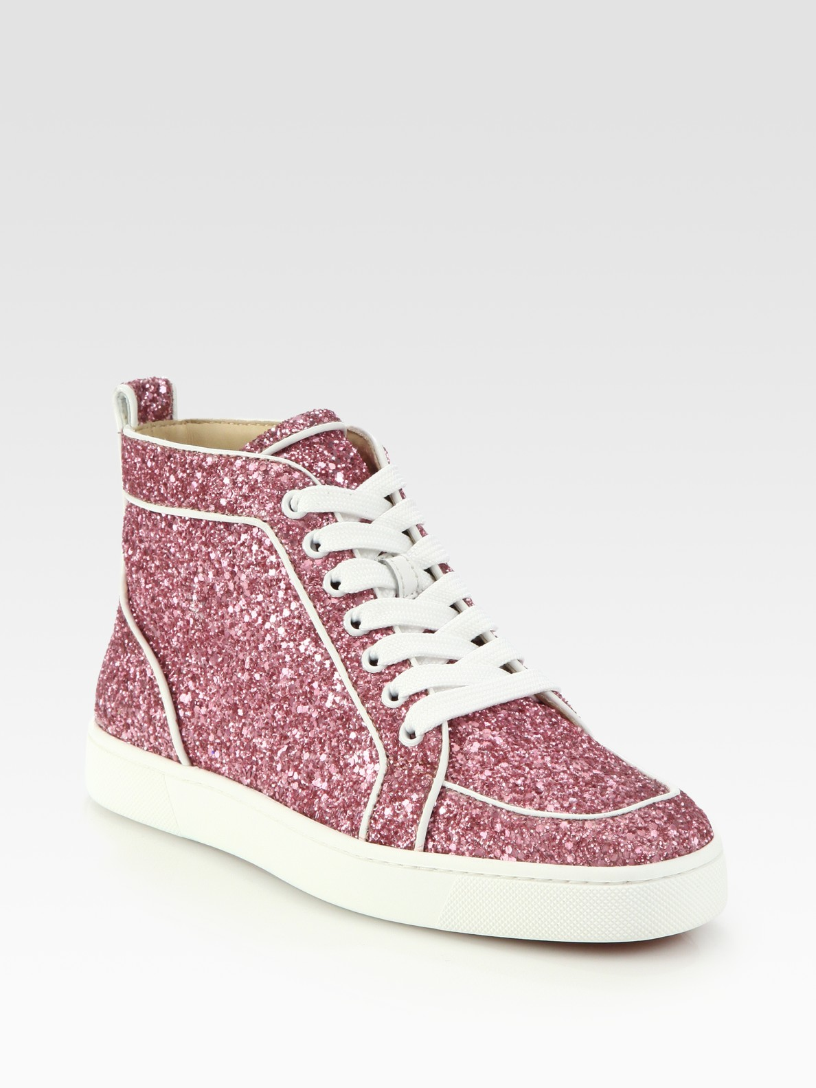 lyst christian louboutin rantus orlato glitter sneakers. Black Bedroom Furniture Sets. Home Design Ideas