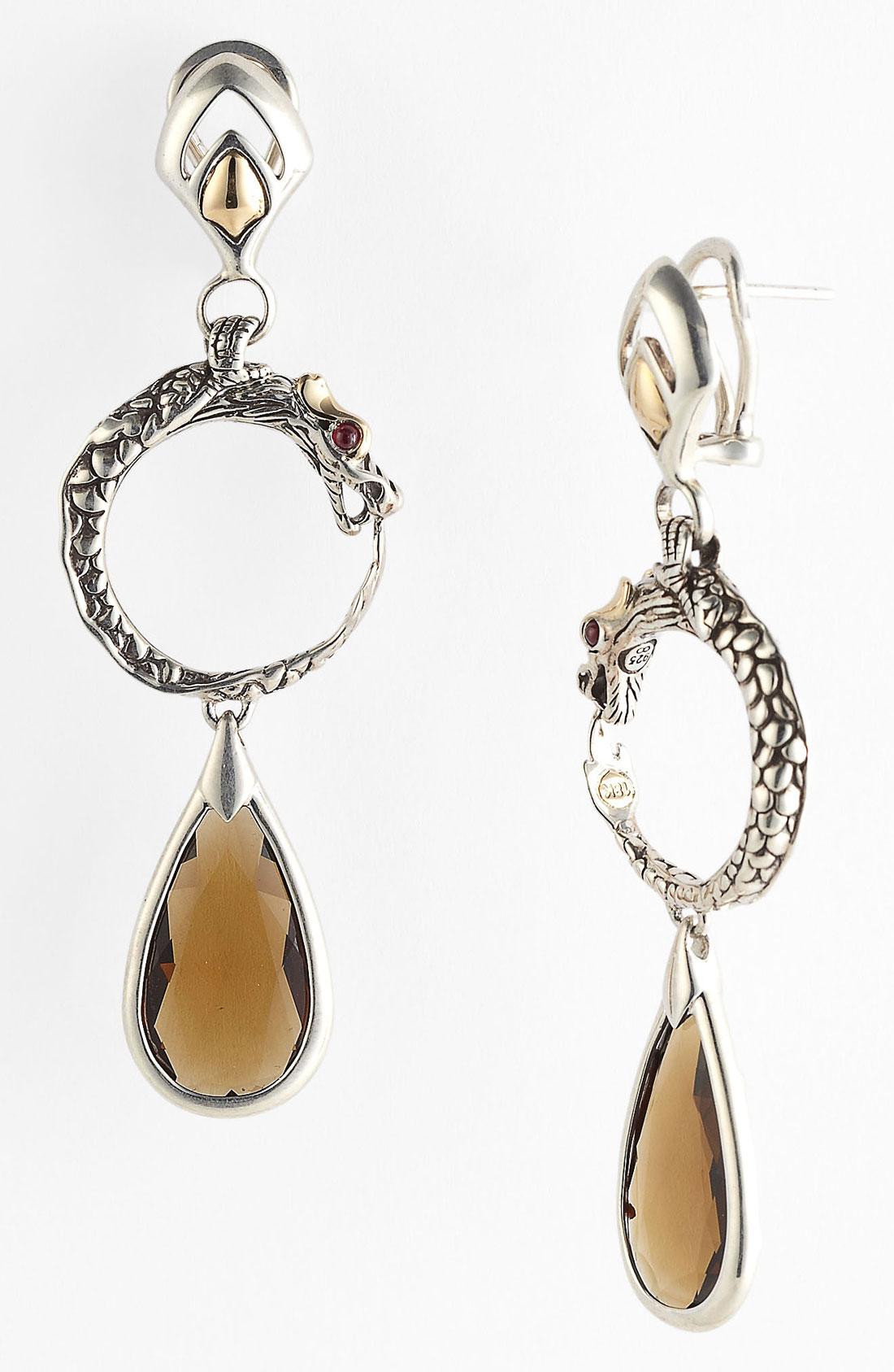 John hardy batu naga drop earrings in silver silver for John hardy jewelry earrings