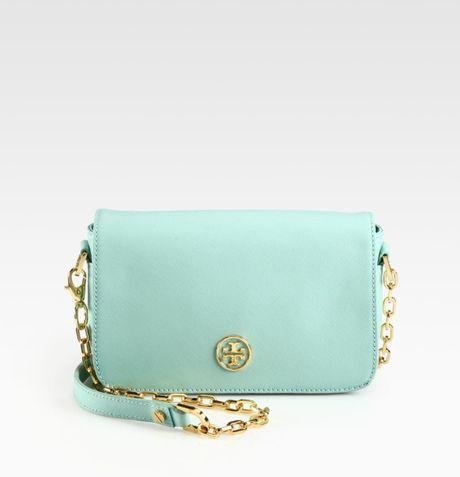 Tory Burch Robinson Chain Mini Bag in Blue (mint) - Lyst