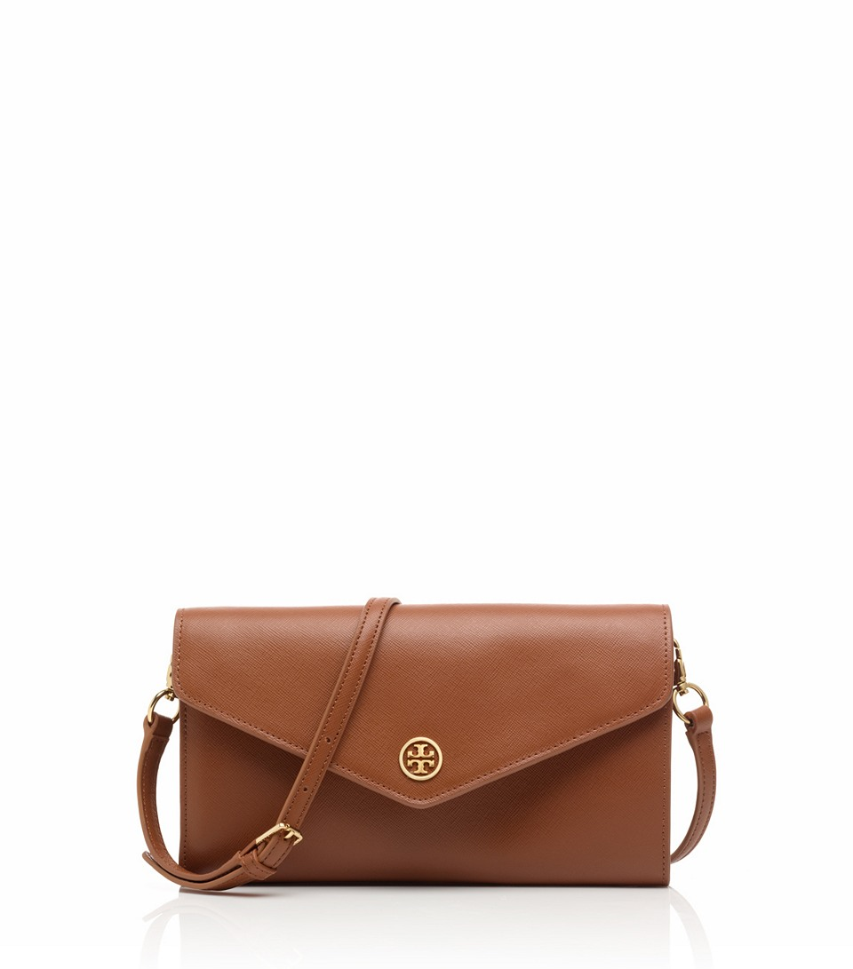 ce4f97c4dac Lyst Tory Burch Robinson Expandable Concierge Wallet In Brown