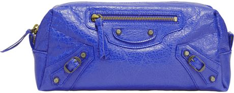 Balenciaga Arena Pencil M Cosmetic Case in Purple