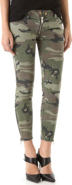 Textile Elizabeth And James Cooper Camo Jeans in Green - Lyst