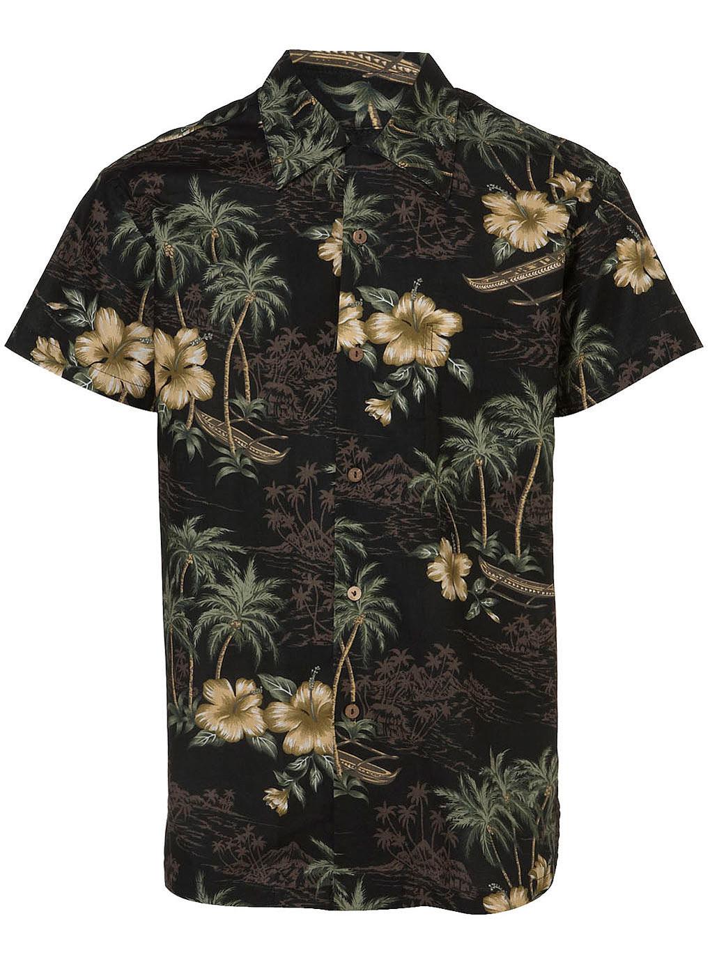Topman Makahiki Hawaiian Shirt In Black For Men Lyst