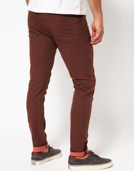 RSQ London Brown Mens Skinny Stretch Jeans $ BUY ONE, GET ONE 50% OFF. RSQ London Mens Skinny Stretch Jeans $ BUY ONE, GET ONE 50% OFF. RSQ New York Mens Slim Straight Stretch Jeans We even have super skinny jeans for men if you are looking for something really sleek. No matter what style you like, you'll definitely find the.