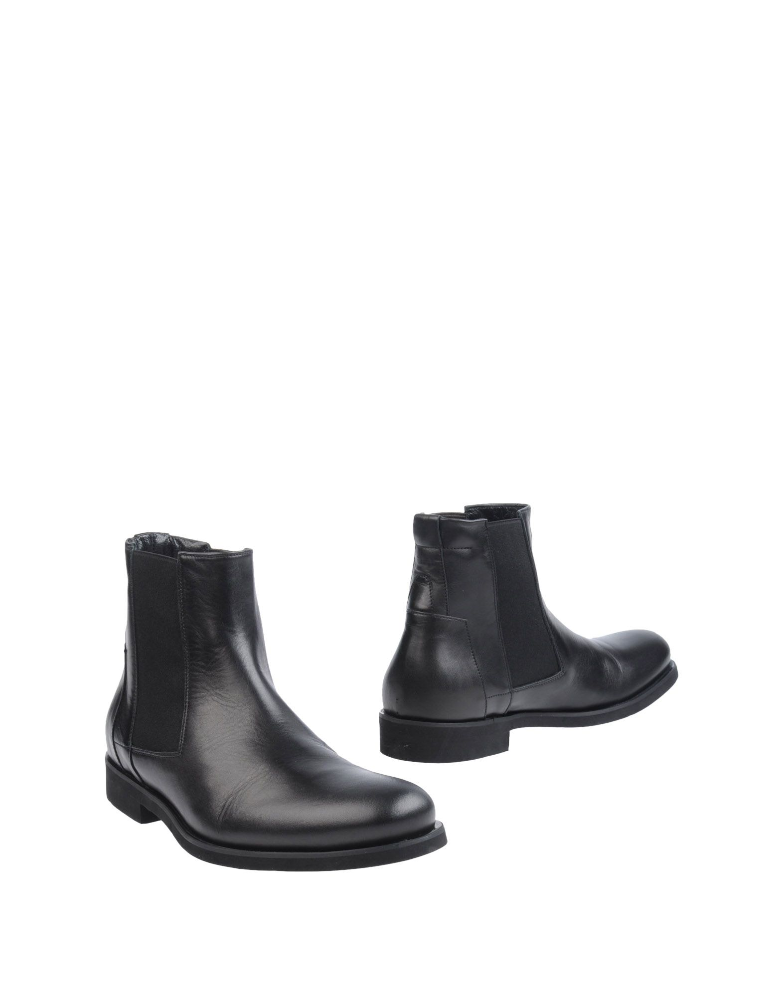 calvin klein ankle boots in black for lyst