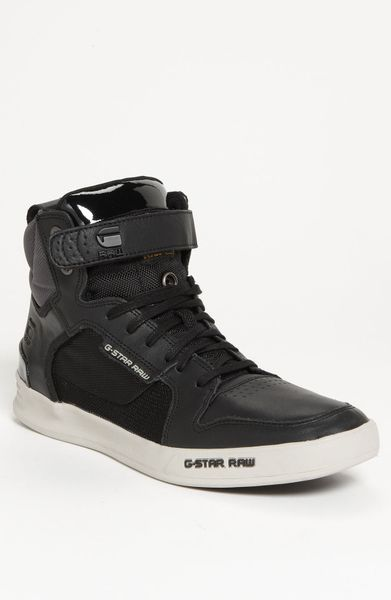 g star raw yard bullion sneaker in black for men lyst. Black Bedroom Furniture Sets. Home Design Ideas