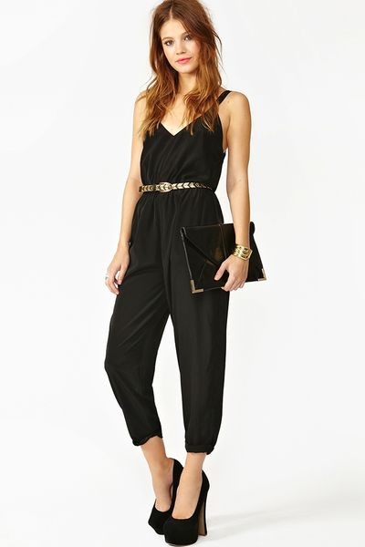 Nasty Gal Harness Jumpsuit In Black Lyst