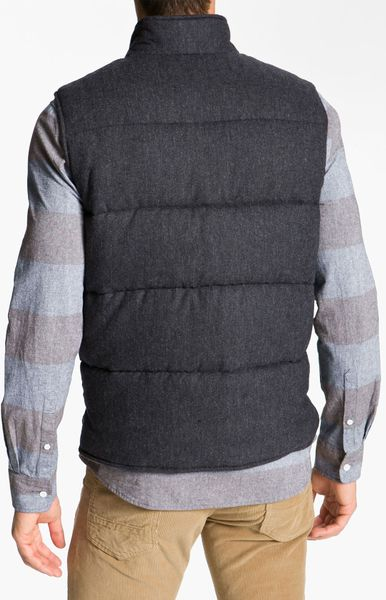 Penny Stock The Puffer Penny Quilted Vest In Gray For Men