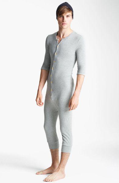 Topman Waffle Knit Union Suit In Gray For Men Grey Lyst