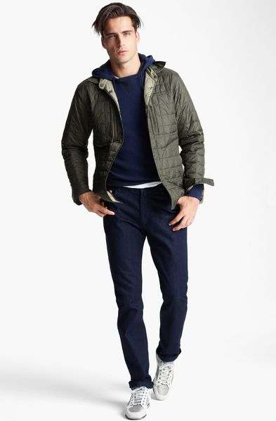 Zegna Sport Quilted Reversible Jacket In Green For Men