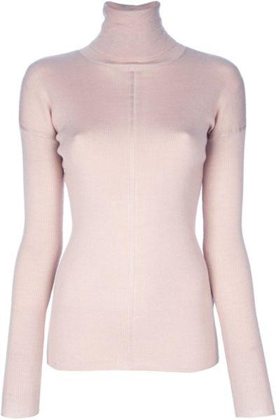 Polo Neck Sweater - Long Sweater Jacket