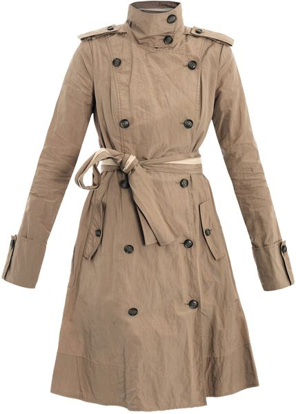 Diane Von Furstenberg Spy Trench Coat in Brown | Lyst