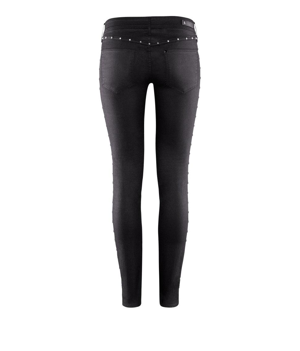 h m super skinny super low jeans in black denim lyst. Black Bedroom Furniture Sets. Home Design Ideas