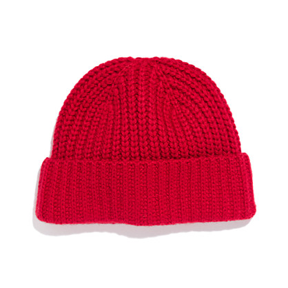 madewell winter hat in red lyst. Black Bedroom Furniture Sets. Home Design Ideas