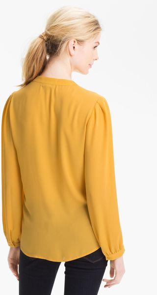 Yellow Tie Neck Blouse 55
