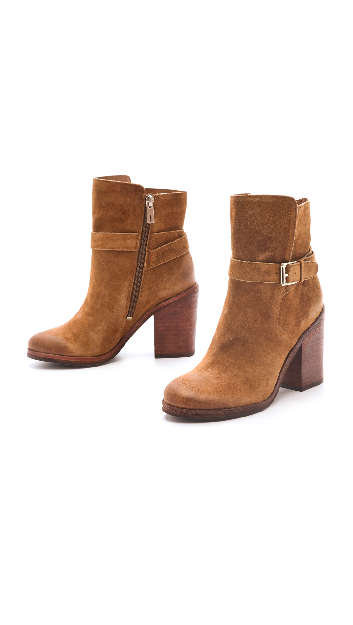 f02b2c13d88f6 Lyst - Sam Edelman Perry Wrap Strap Booties in Brown