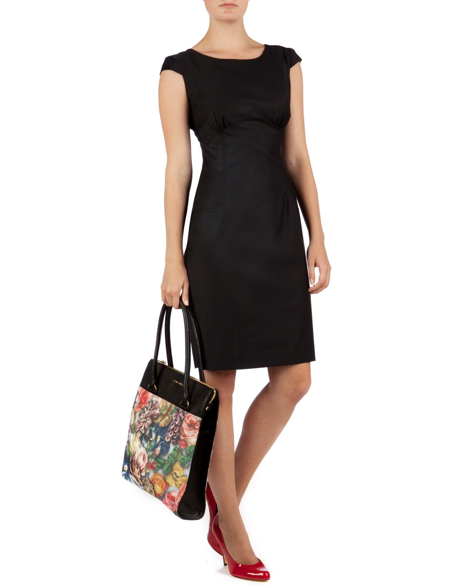 Turmec » black dresses cap sleeves e5f258171333