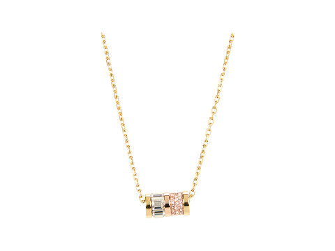 Lyst michael kors brilliance pave barrel pendant necklace in gallery previously sold at zappos luxury womens michael kors pendant mozeypictures Image collections